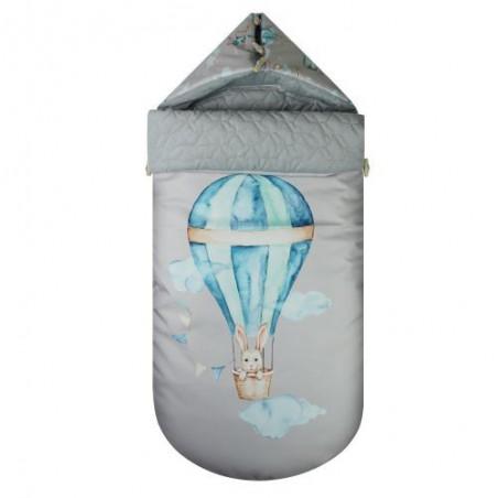Stroller Sleeping Bag Travel Time Balloon on gray