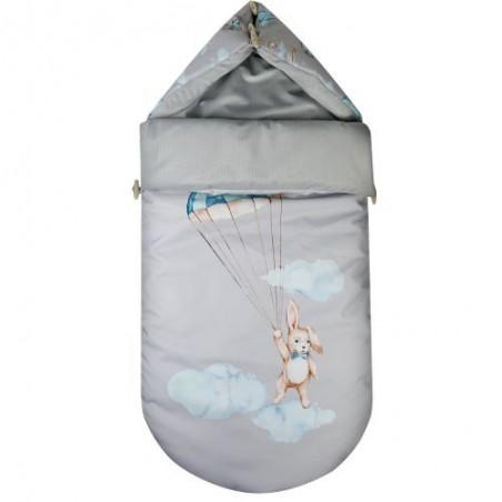 Stroller Sleeping Bag Travel Time RABBIT on gray