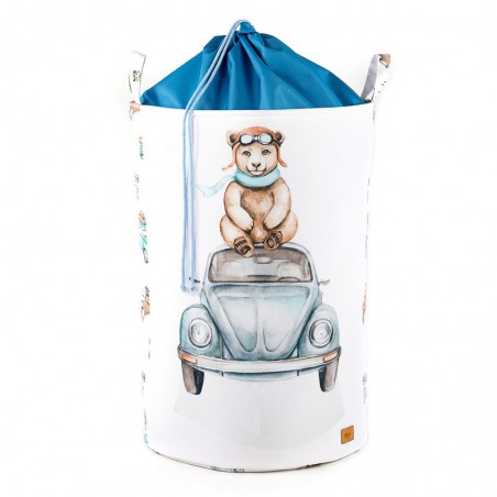 Toy Bin large with STRAIGHTENER Teddy bear on a humpback