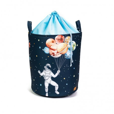 """Basket for toys """"Space & planets"""" with welt"""