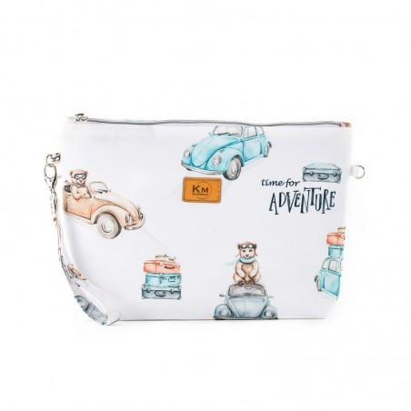 """Cosmetic bag """"Time for adventure"""" 20x30cm"""