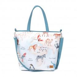 """Bag """"Animal Map"""" white..."""