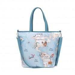 "Bag ""Animal Map"" blue 46x38..."