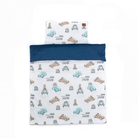 """Set """"M"""" Duvet and pillow for bed """"Time for adventure"""" 75x100"""