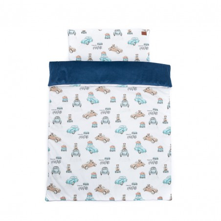 """Set """"L"""" quilt and cot pillow """"Time for adventure"""" /120 x 90cm/ cars"""