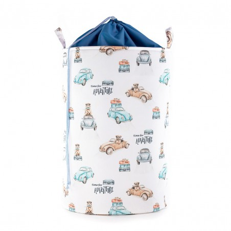 Toy Bin large with STRAIGHTENER Time for adventure /small pattern/