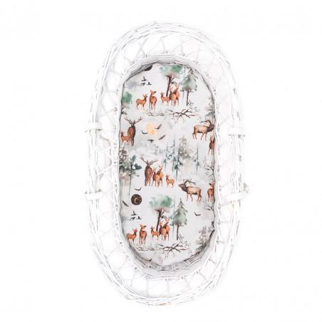 "Moses basket, gondola sheet ""Wild dreams"" 80x35cm"