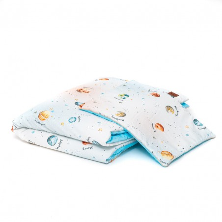 """Set """"L"""" quilt and pillow for bed """"Planets"""" /120 x 90cm/"""