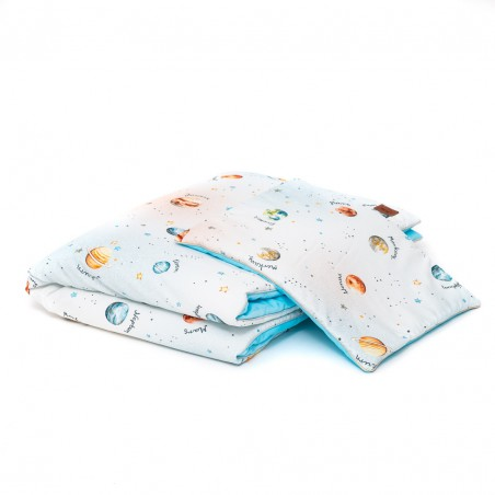 """Set """"M"""" duvet and pillow for bed """"Planets"""" 75x100"""