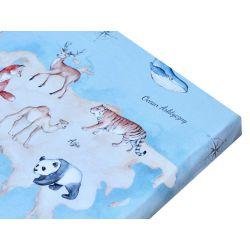 """Bed sheet """"Animal Map""""..."""