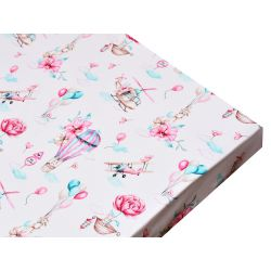 """Girl's cot sheet """"Clouds..."""