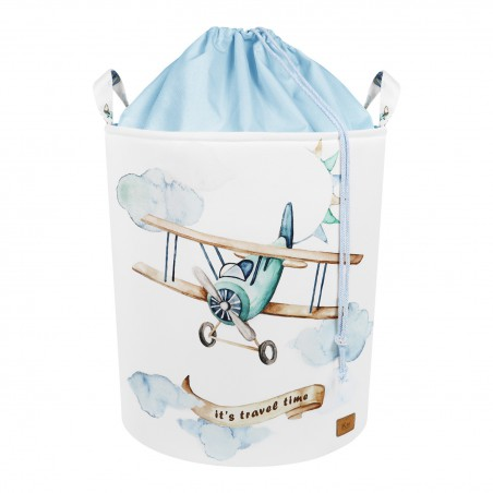 """Toy basket with closure Airplane """"Travel time"""" 50x37cm"""