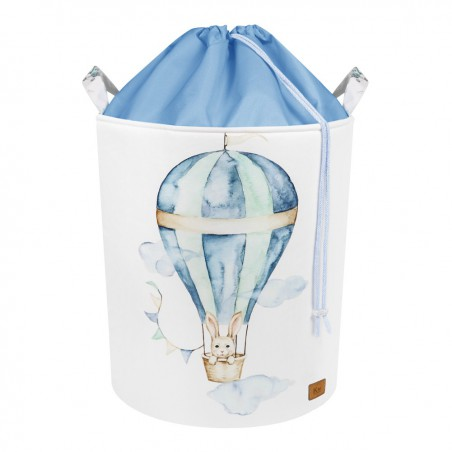 Basket for toys with welt BALLOON TRAVEL TIME